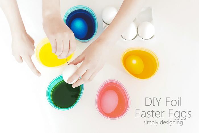 Kids Dip Easter Eggs