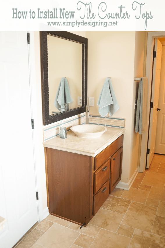 New Bathroom Tile Counters