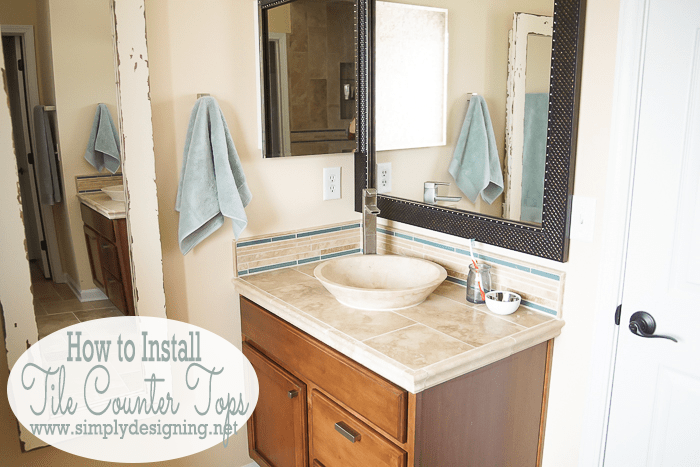 New Master Bathroom Counter Tops