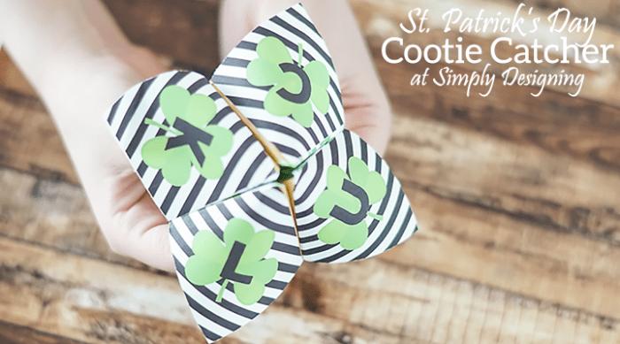 St Patricks Day Cootie Catcher