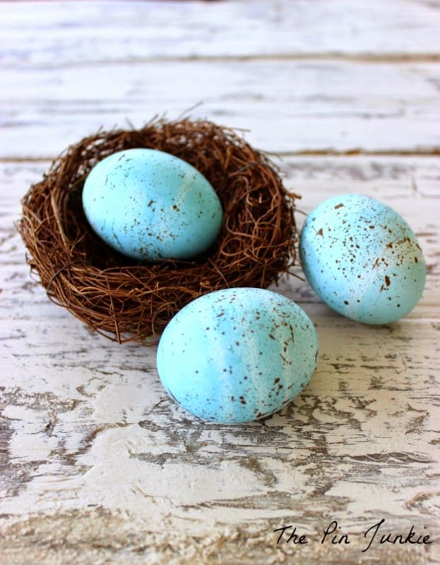blue speckled easter egg