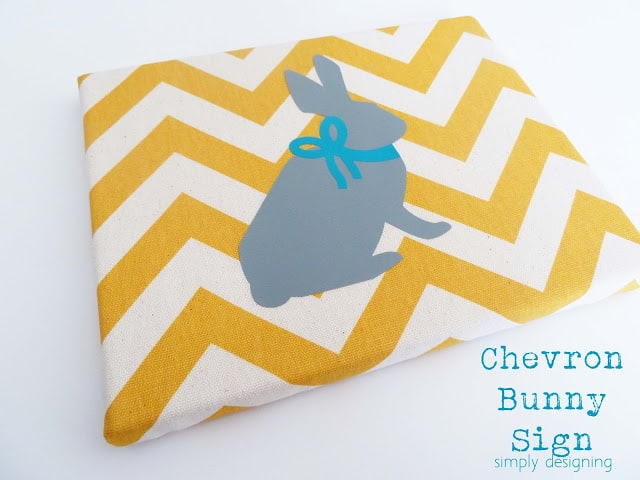 chevron bunny sign