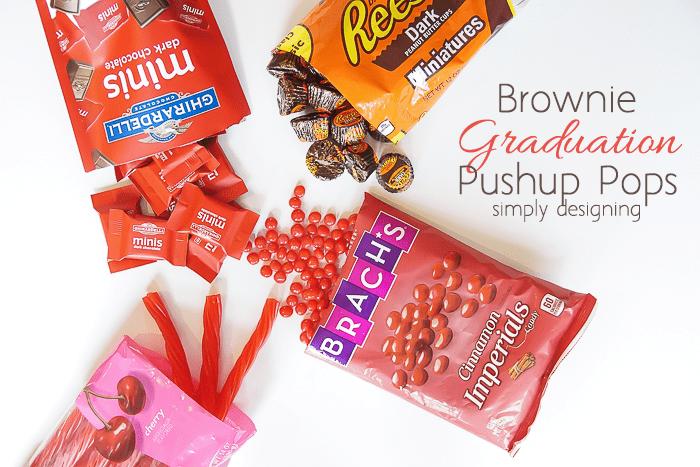 Brownie Graduation Pushup Pops Ingredients