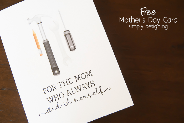 Free Mothers Day Card Printable Gift Idea
