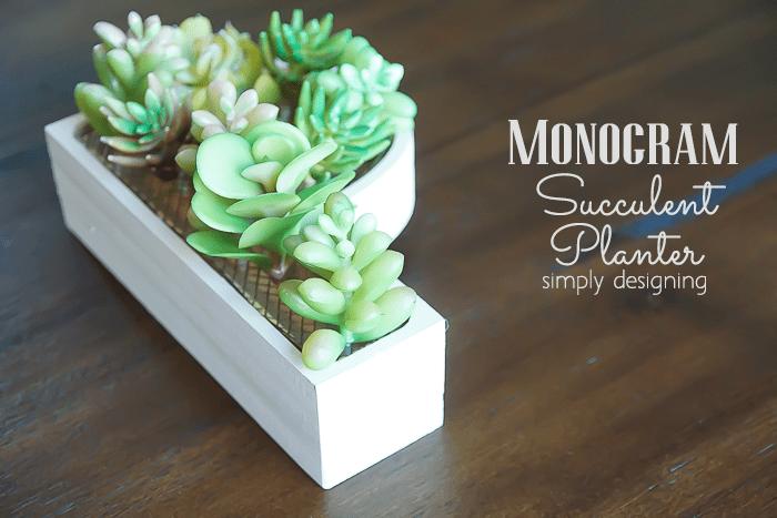 Monogram Planter