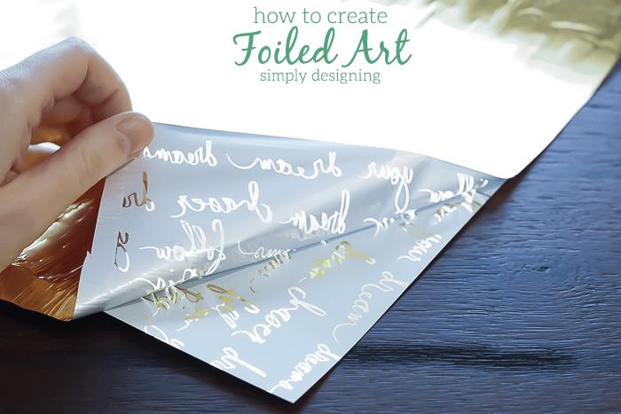 Peel foil away