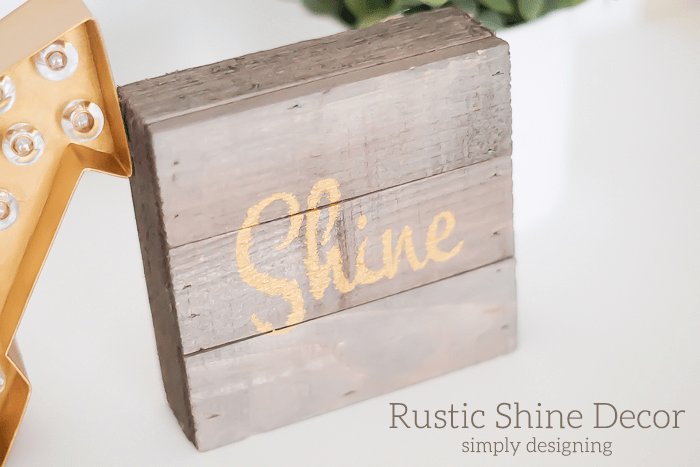Rustic Gold Shine Decor