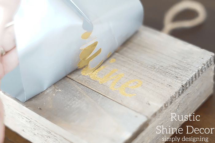 Rustic Shine Decor peel up vinyl stencil