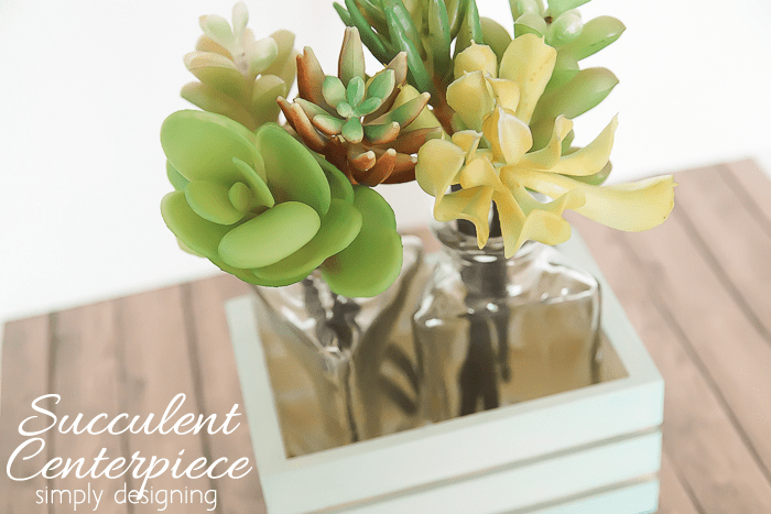 Succulent Centerpiece in Wooden Crate