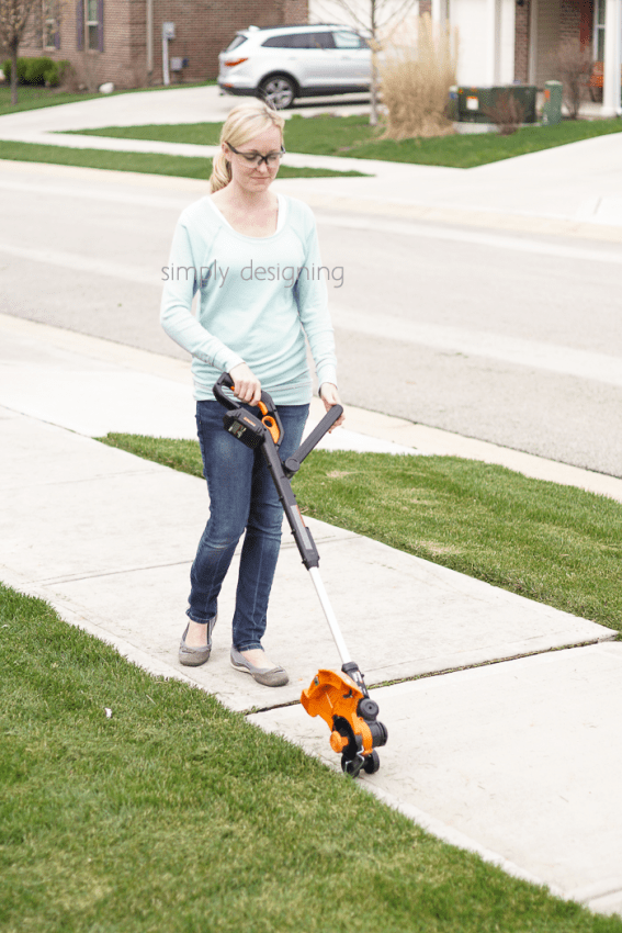 WORX Trimmer with Wheels