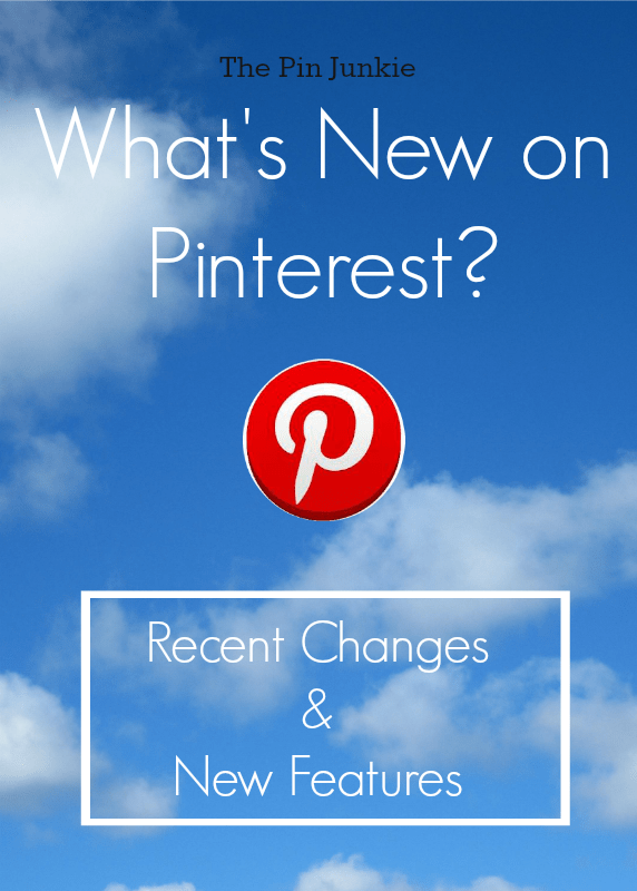 what's new on pinterest