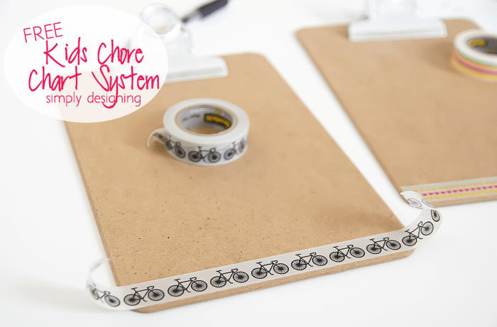 Clip Board with Washi Tape
