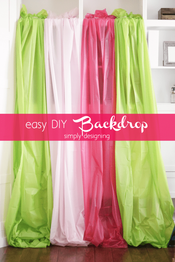 Easy DIY Photo Backdrop