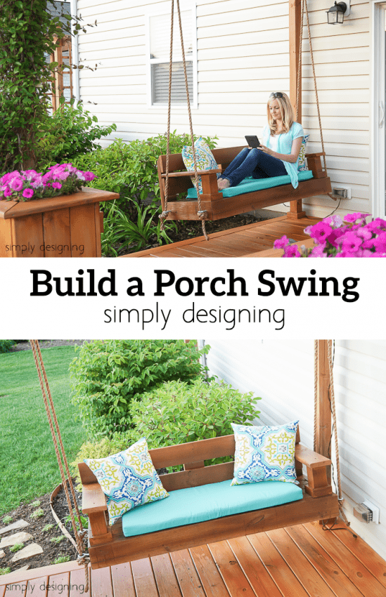 How to Build a Porch Swing - this swing was the perfect addition to our deck and was pretty simple to make too - come see all the details