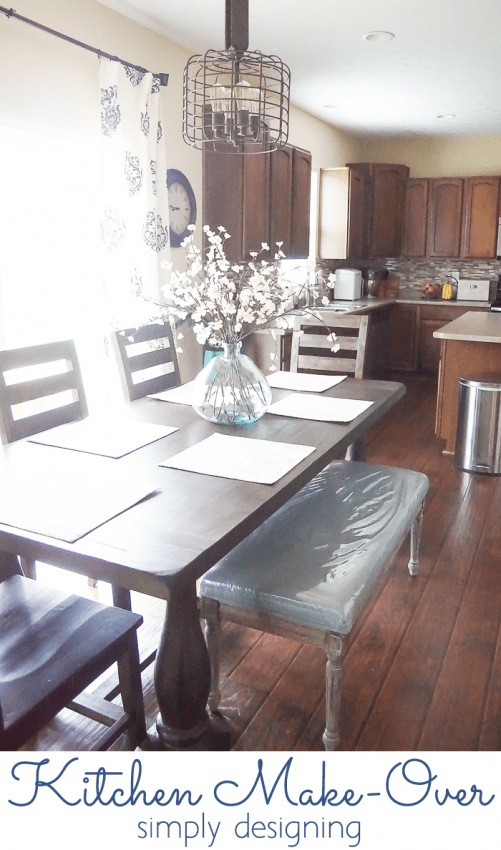 Kitchen Make-Over new dining room table