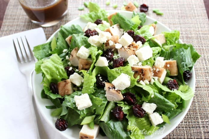 Smoked Turkey Cherry and Feta Salad by Yesterfood 2
