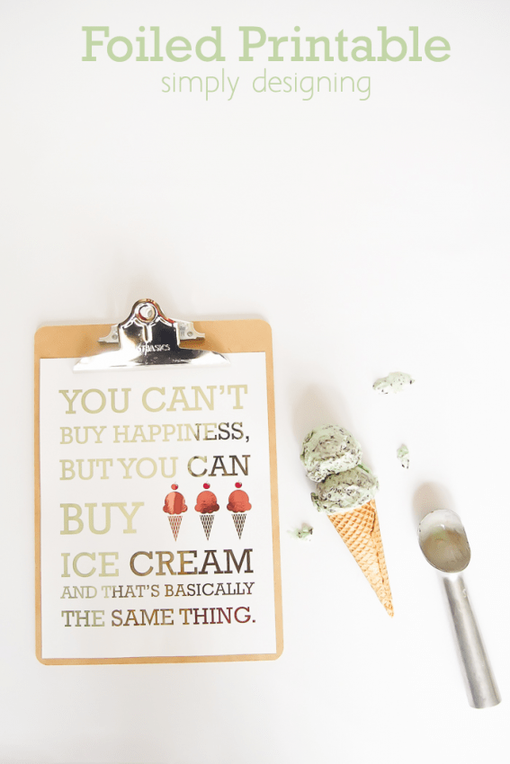 You cant buy happiness printable