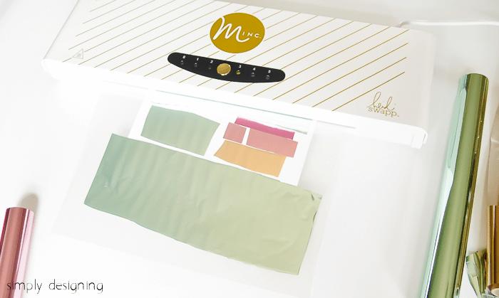 use Minc to make foiled ice cream printable