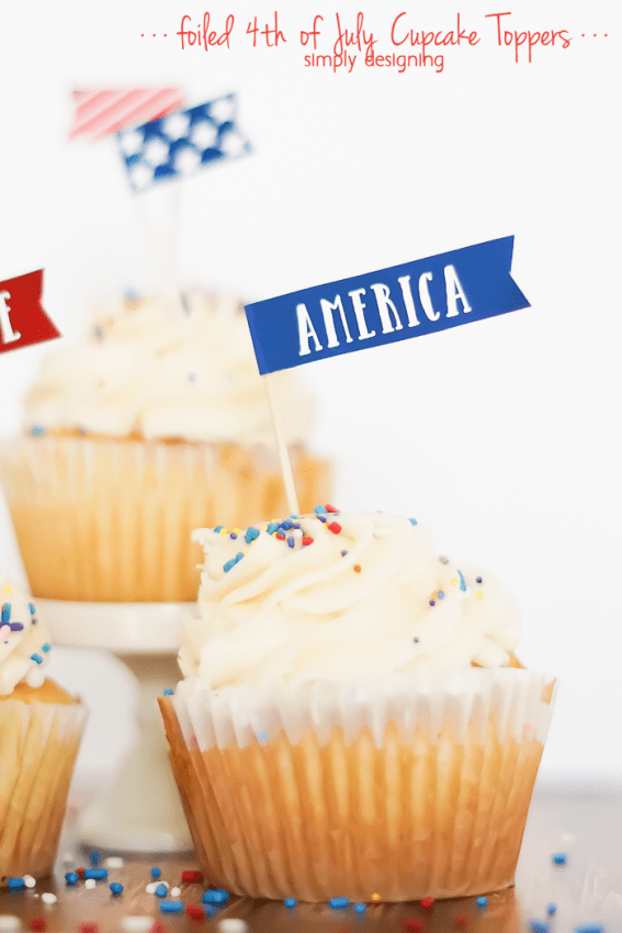 4th of July Cupcake Toppers - free printable