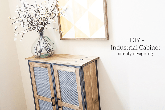 DIY Industrial Cabinet Hack - you will not believe what this used to look like