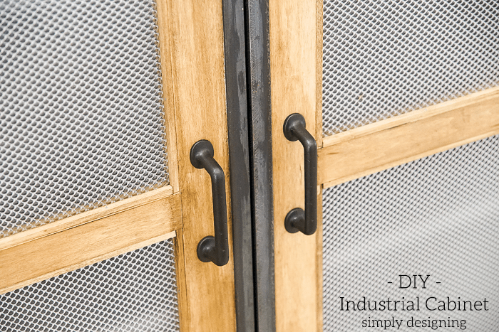 DIY Industrial Cabinet - plexiglass doors