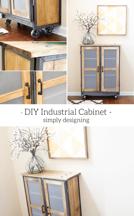 DIY Industrial Cabinet - this is such an amazing DIY - the detail is stunning and the piece is so beautiful - you won't believe it is an IKEA Hack