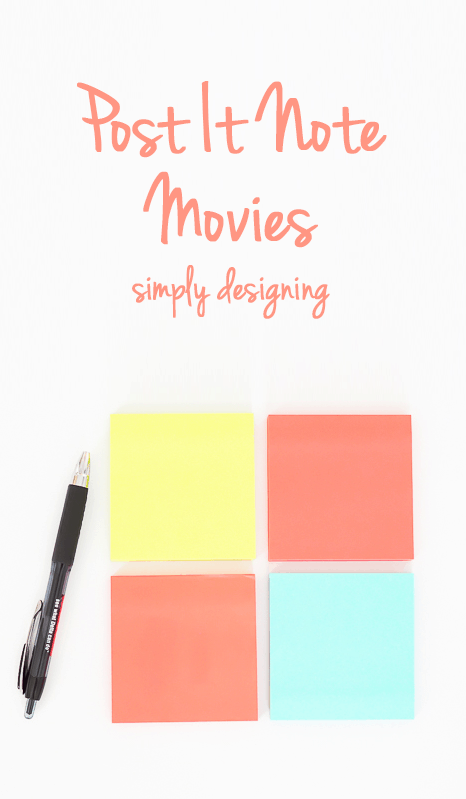 DIY Post It Note Movies - such a fun activity