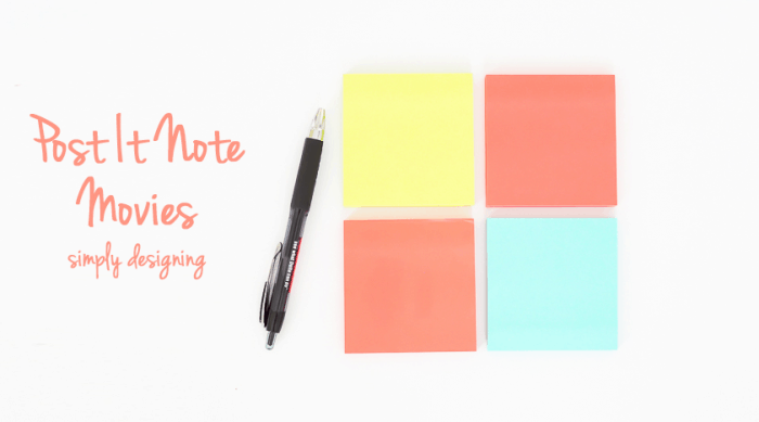 DIY Post It Note Movies