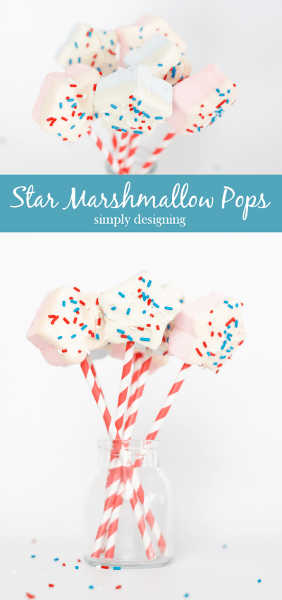 Easy to make Star Marshmallow Pops