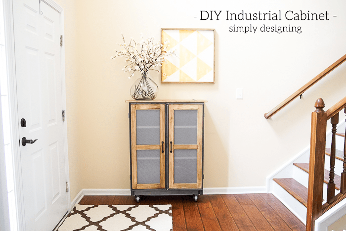 Industrial Cabinet in foyer