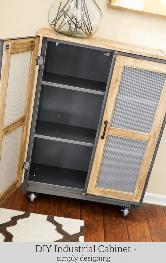Industrial Cabinet - inside shelves