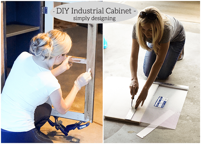 Industrial Cabinet - stain and cut plexiglass