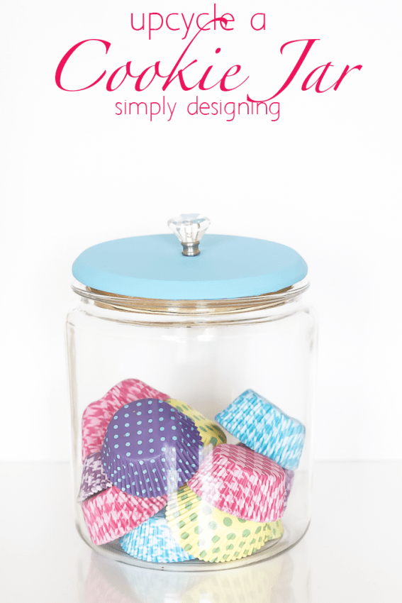 Jar with Cupcake Liners
