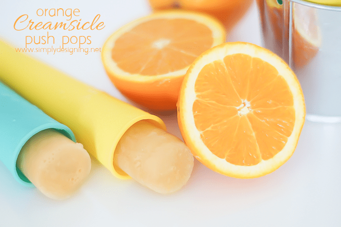 Orange Creamsicle Popsicle Push Pops