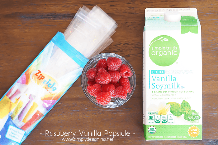 Raspberry Vanilla Popsicles Ingredients