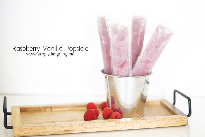 Raspberry Vanilla Popsicles - love that there is no added sugar - these have such a fresh taste to them - YUM