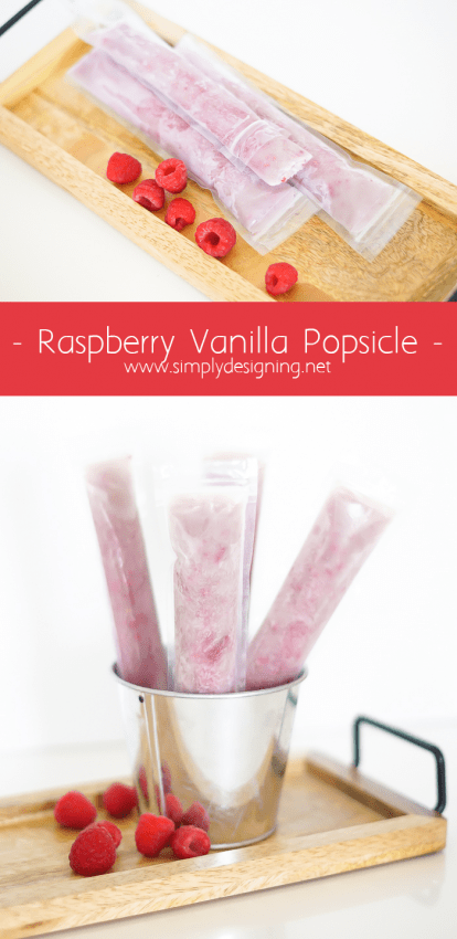 Raspberry Vanilla Popsicles - these have such a fresh taste to them with no added sugar - YUM