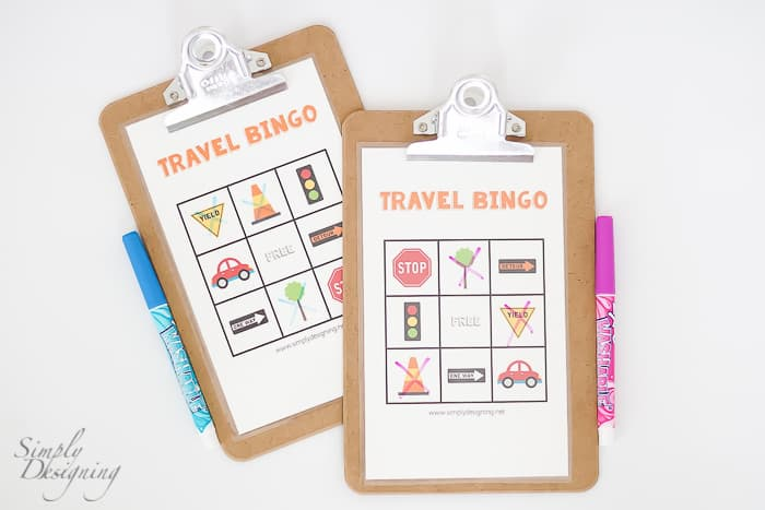 Travel Bingo Printable