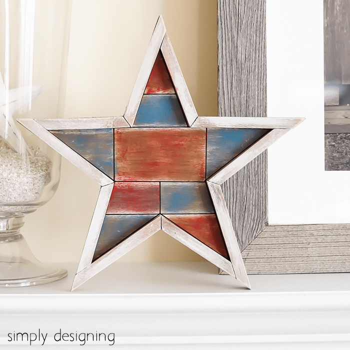 Whitewashed Barn Star Square