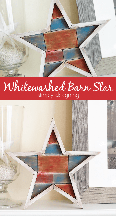 Whitewashed Barn Star - fun and easy 4th of July project
