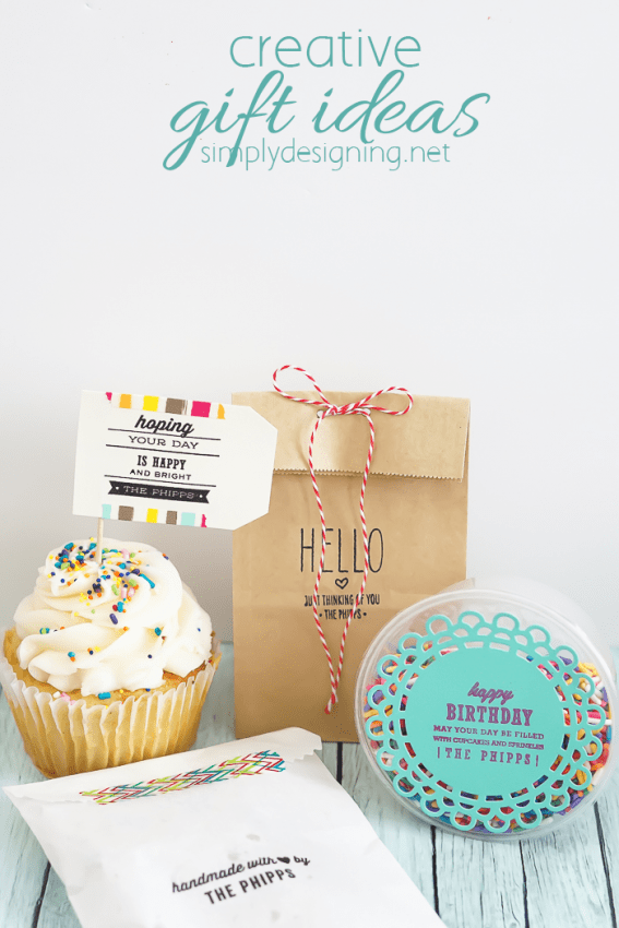 creative gift ideas - these are so simple and perfect for kids or adults to give and these tags are adorable