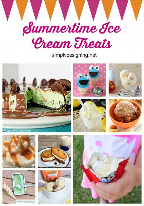 ice cream treats collage