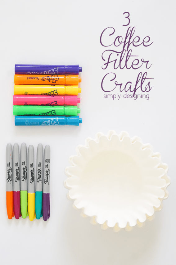 3 Coffee Filter Crafts - these are so fun and simple and perfect to keep boredom at bay
