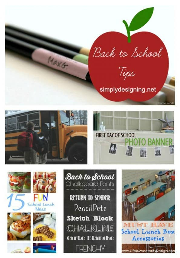 Back to school collage pinterest