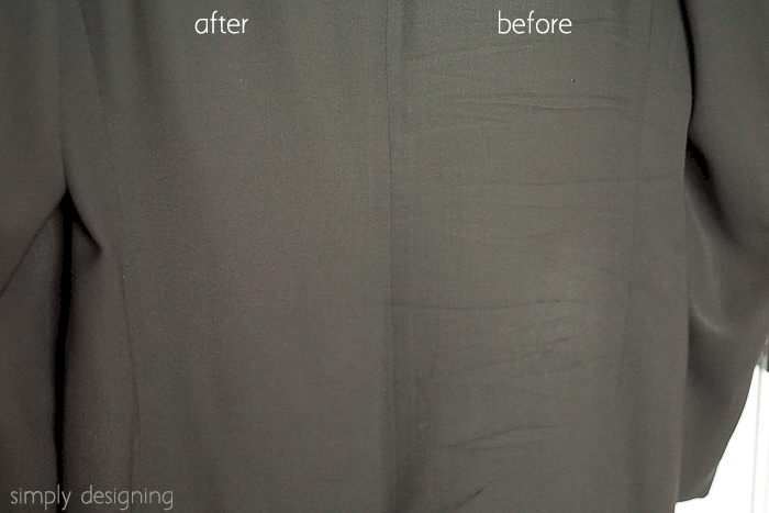 Before and After How to Steam a Suit