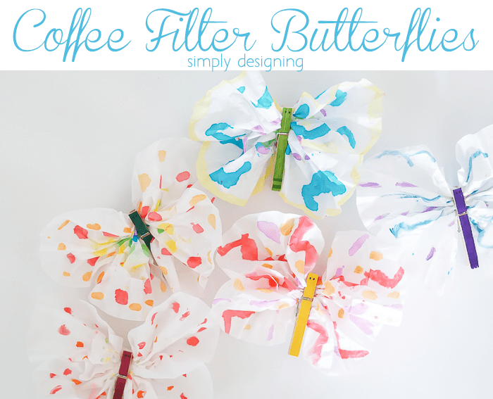 Coffee Filter Butterflies Kids Craft
