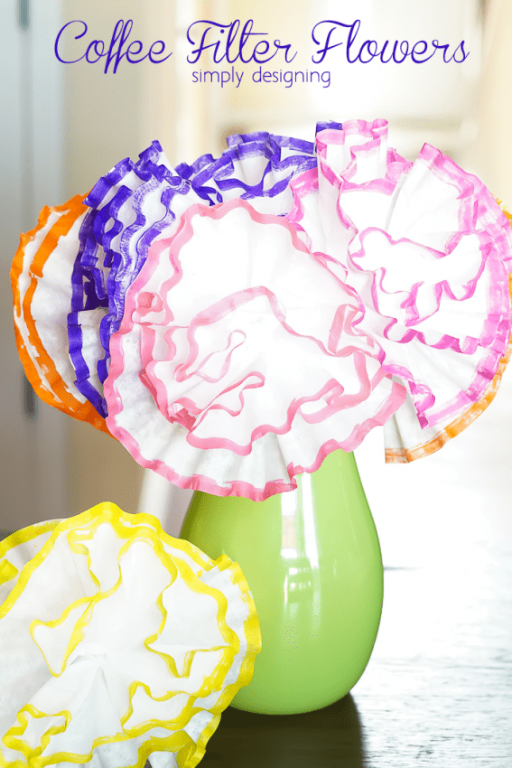 3 coffee filter crafts for Arts and crafts for seniors