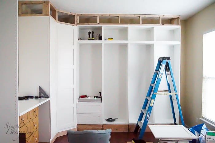 Frame in top of cabinets