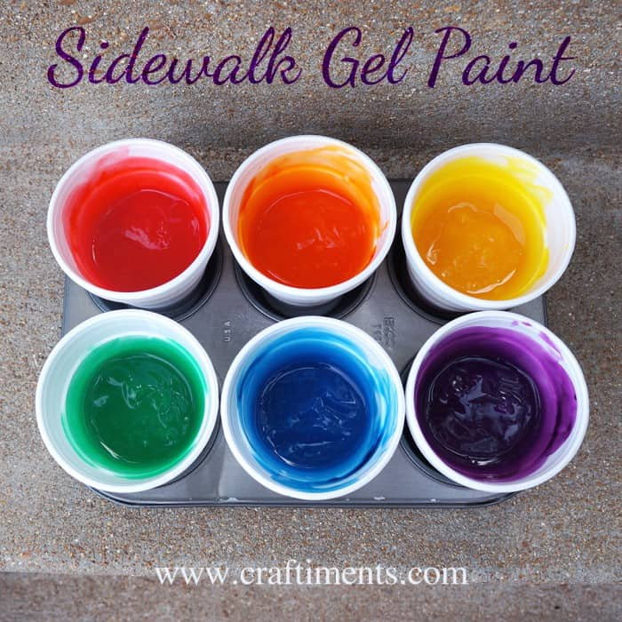 Craftiments Sidewalk Gel Paint Tutorial