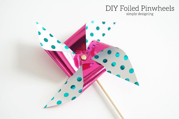 DIY Foiled Pinwheels